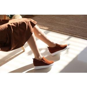 スリッポン レディース スニーカー 裏起毛 ヌバックレザー 2017 秋 冬 ファッション 靴 婦人靴|ones-style|04