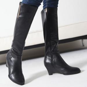 ロングブーツ ブーツ レディース 秋 冬 ファッション 靴 婦人靴 30代 40代 ウェッジヒール