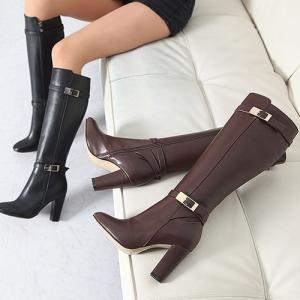 ロングブーツ ブーツ レディース 秋 ファッション 靴 婦人靴 チャンキーヒール 太ヒール