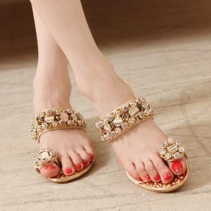 サンダル レディース 履きやすい ミュール ウェッジサンダル ラインストーン ビジュー ウェッジソール サンダル トング ファッション 靴  婦人靴 厚底サンダル|ones-style|04