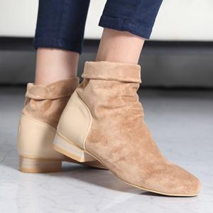 ミドルブーツ ローヒール スエード調 ブーツ レディース 秋 ファッション レディース 靴 婦人靴 30代 40代