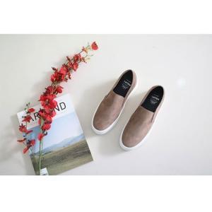スリッポン スニーカー レディース スエード調 厚底 紐無し ぺたんこ 春 ファッション 靴 婦人靴 カジュアル|ones-style|12
