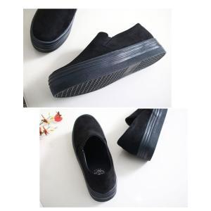 スリッポン スニーカー レディース スエード調 厚底 紐無し ぺたんこ 春 ファッション 靴 婦人靴 カジュアル|ones-style|17
