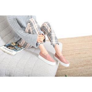 スリッポン スニーカー レディース スエード調 厚底 紐無し ぺたんこ 春 ファッション 靴 婦人靴 カジュアル|ones-style|04