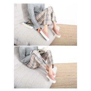 スリッポン スニーカー レディース スエード調 厚底 紐無し ぺたんこ 春 ファッション 靴 婦人靴 カジュアル|ones-style|06