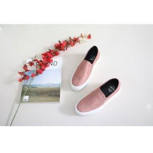 スリッポン スニーカー レディース スエード調 厚底 紐無し ぺたんこ 春 ファッション 靴 婦人靴 カジュアル|ones-style|10