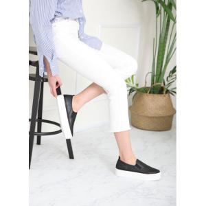 スリッポン レディース スニーカー シンプル 2018 春 ファッション 靴 婦人靴|ones-style|14