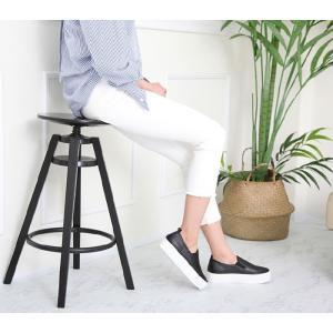 スリッポン レディース スニーカー シンプル 2018 春 ファッション 靴 婦人靴 ones-style 16