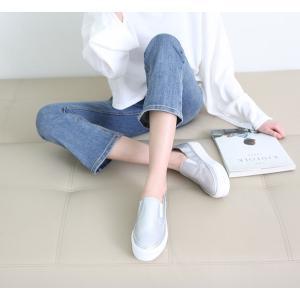 スリッポン レディース スニーカー シンプル 2018 春 ファッション 靴 婦人靴|ones-style|05