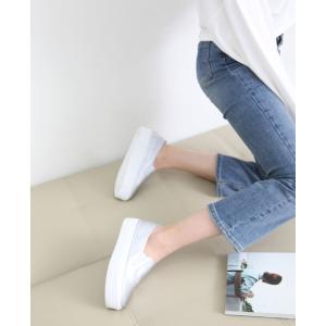 スリッポン レディース スニーカー シンプル 2018 春 ファッション 靴 婦人靴|ones-style|08