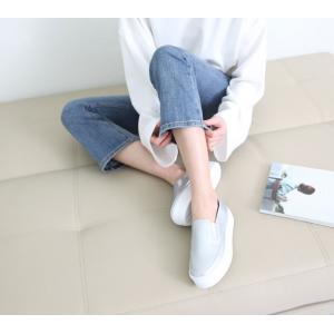 スリッポン レディース スニーカー シンプル 2018 春 ファッション 靴 婦人靴 ones-style 10