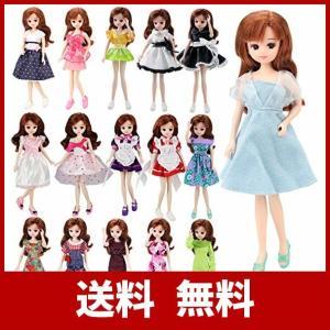 「Barwawa」リカちゃんドール用ドレス  6枚セット=3枚服+3ペア靴 ブライス用ドレス 手作り...