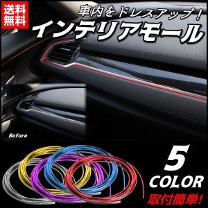車 モール 汎用 取り付け セット カラーモール スリム 5...
