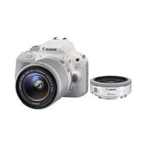 キヤノン EOS Kiss X7 ダブルレンズキット 2 ホワイト【送料無料】 1800万画素 デジタル一眼カメラ ホワイト [EOSKissX7ダブルレンズキット2ホワイト]|onhome