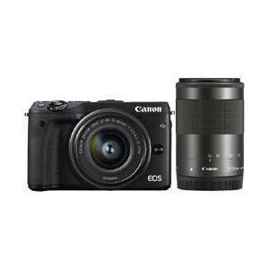 【送料無料】 キヤノン EOS M3 ダブルズームキット2 ブラック 約2420万画素 デジタル一眼カメラ [EOSM3ダブルズームキット2ブラック]|onhome