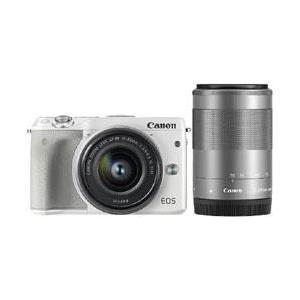 【送料無料】 キヤノン EOS M3 ダブルズームキット2 ホワイト 約2420万画素 デジタル一眼カメラ [EOSM3ダブルズームキット2ホワイト]|onhome