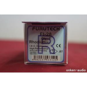 Furutech フルテック FI-28(R) ロジウムメッキ インレットプラグ|onkenaudio