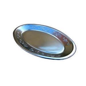 オードブル皿 パーティー皿 小判皿 K7 取り皿  20枚セットプラスチック皿 使い捨て皿 銀皿 オ...