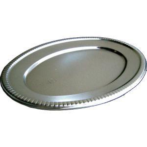 オードブル皿 パーティー皿 小判皿 K6 取り皿  50枚セットプラスチック皿 使い捨て皿 銀皿 オ...