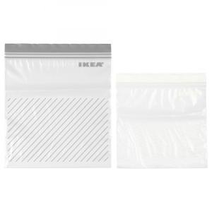 【IKEA】   ISTAD プラスチック袋  便利なジッパー付き。繰り返し使えます   サイズ ・...