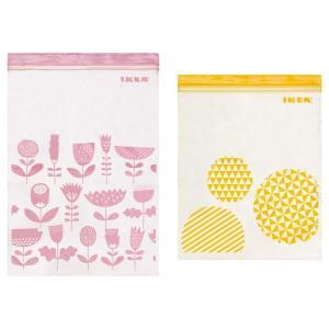 IKEA/イケア フードキーパー ピンク/イエロー プラスチ...