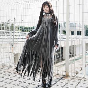 コスプレ ゴースト おばけ 衣装 ドレス コス...の詳細画像5