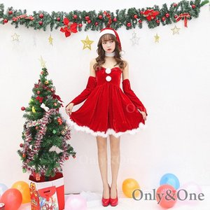 サンタ コスプレ クリスマス サンタクロース めちゃカワ ワンピ Xmas サンタコ スチューム 衣装|only-and-one