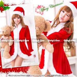 サンタ コスプレ クリスマス サンタクロース コスチューム コート風ワンピース S/M/L/XL|only-and-one