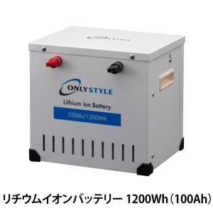 オンリースタイル リチウムイオンバッテリー 1200Wh(100Ah) SimpleBMS内蔵 型式:WB-LYP100AHA12SB|only-style