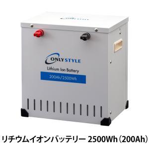オンリースタイル リチウムイオンバッテリー 2500Wh(200Ah) SimpleBMS内蔵 型式:SP-LFP200AHA12SB|only-style