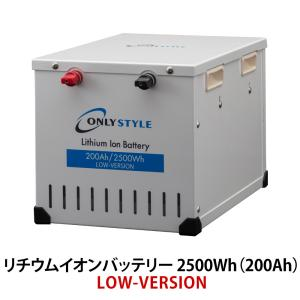 オンリースタイル リチウムイオンバッテリー 2500Wh(200Ah) LOW-version SimpleBMS内蔵 型式:WB-LYP200AHA12SB -LOW only-style