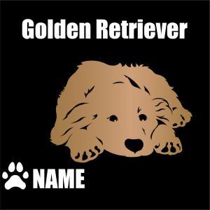 切り文字と犬のステッカーの色を替える|only-wan2