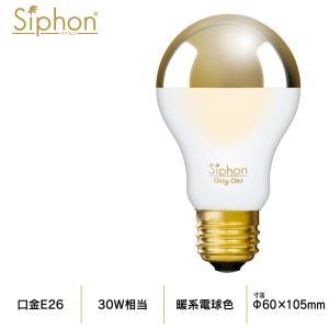 【3年保証 フィラメントLED電球「Siphon」ザ・バルブ LDF81】E26 Gold mirror  Frost Tミラー レトロ アンティーク インダストリアル ブルックリン  間接照明|only1-led