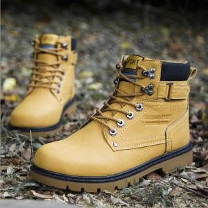 ブーツ メンズ ショートブーツ PU革靴 ワークブーツ カジ...