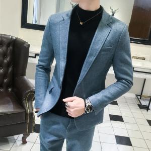 2019新作 ビジネススーツ シングルスーツ メンズ 2ピーススーツ おしゃれスーツ 二次会 結婚式...