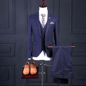 3ピーススーツ メンズ スーツセット 1つボタン 3点スーツ ビジネス フォーマル リクルートスーツ...