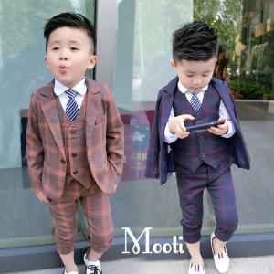 5点キッズ 男の子 スーツ フォーマル 子供服 上下セット カジュアルスーツ 韓国風 結婚式 入学式...