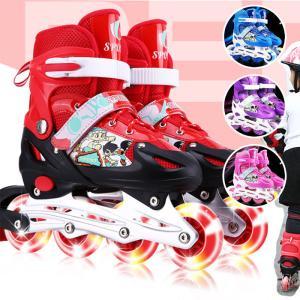 インラインスケート ローラーブレード 子供/ジュニア用 ウィールが光る ローラースケート