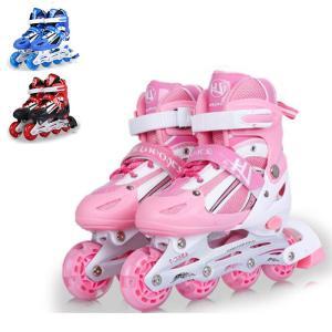 インラインスケート ローラーブレード セット 子供/ジュニア用 ウィールが光る 9点セット ローラー...