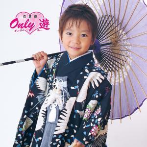 七五三 袴 ブランド/男の子 着物 レンタル 5歳 袴セット 子供  04-540MR Childoll 05黒 鶴|onlyyou