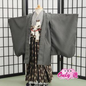 七五三 袴 白馬 男の子 着物 レンタル 5歳 袴セット 子供 白 04-563MR