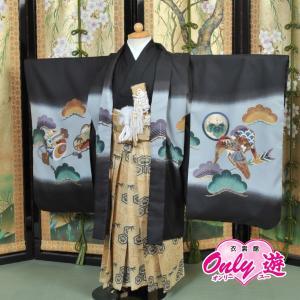卒園式 羽織袴 男の子 黒 着物 レンタル 7歳 袴セット 子供 05-526SZ-s onlyyou