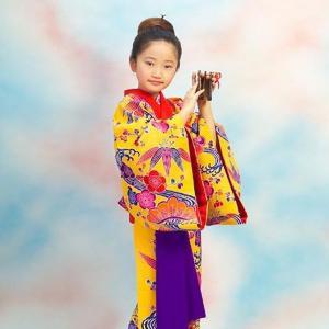 七五三 女の子 7歳  琉球紅型 子供 着物レンタル  07-153|onlyyou