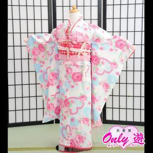 七五三 女の子 7歳 ブランド/四つ身 SEIKO MATUDA 子供 着物 レンタル 帯付きセット 白 07-170MR|onlyyou