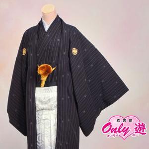 メンズ袴/男紋付羽織袴/ブランドmodern classic 20-576BN/結婚式/成人式/入学式/卒業式/着物レンタル (6号)|onlyyou