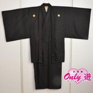 メンズ袴/男紋付羽織袴/ 20-617KT(6号)/結婚式/成人式/入学式/卒業式/着物レンタル黒|onlyyou