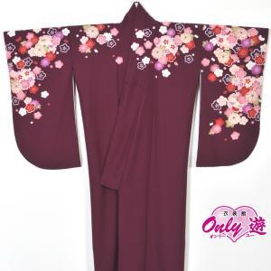 卒業式/レディース/小振袖/二尺袖/着物/袴用/22-041OI 紫 Kansai onlyyou