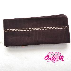 角帯/メンズ/27-009MR/殿方小物/リバーシブル/紫/正絹/着物レンタル