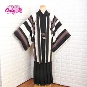 メンズ袴セット/メンズ/JAPAN STYLE/50-537NK/91-832NK/Mサイズ/成人式/卒業式/レンタル/小紋柄/白黒/ブランド/袴/黒/着物レンタル onlyyou