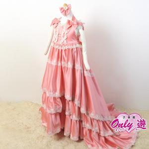 子供ドレス/100cm/G3 Kato 06 ロングドレス シャルロット サーモンピンク サイズ100|onlyyou
